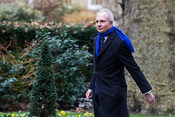 © Licensed to London News Pictures. 08/01/2018. London, UK. Justice Secretary David Lidington arrives on Downing Street as Prime Minister Theresa May reshuffles the Cabinet. Photo credit: Rob Pinney/LNP