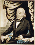 John Quincy Adams (1767-1848)  American diplomat and Sixth President of the United States of America 1825-1829.   Currier & Ives lithograph.