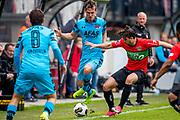 NIJMEGEN- 07-05-2017, NEC - AZ,  Stadion De Goffert, 2-1, AZ speler Stijn Wuytens, NEC Nijmegen speler Julian von Haacke