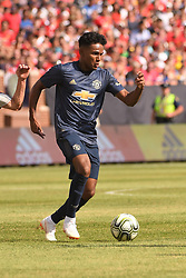 July 28, 2018 - Ann Arbor, MI, U.S. - ANN ARBOR, MI - JULY 28: Manchester United Defender Demetri Mitchell (35) in action during the ICC soccer match between Manchester United FC and Liverpool FC on July 28, 2018 at Michigan Stadium in Ann Arbor, MI. (Photo by Allan Dranberg/Icon Sportswire) (Credit Image: © Allan Dranberg/Icon SMI via ZUMA Press)