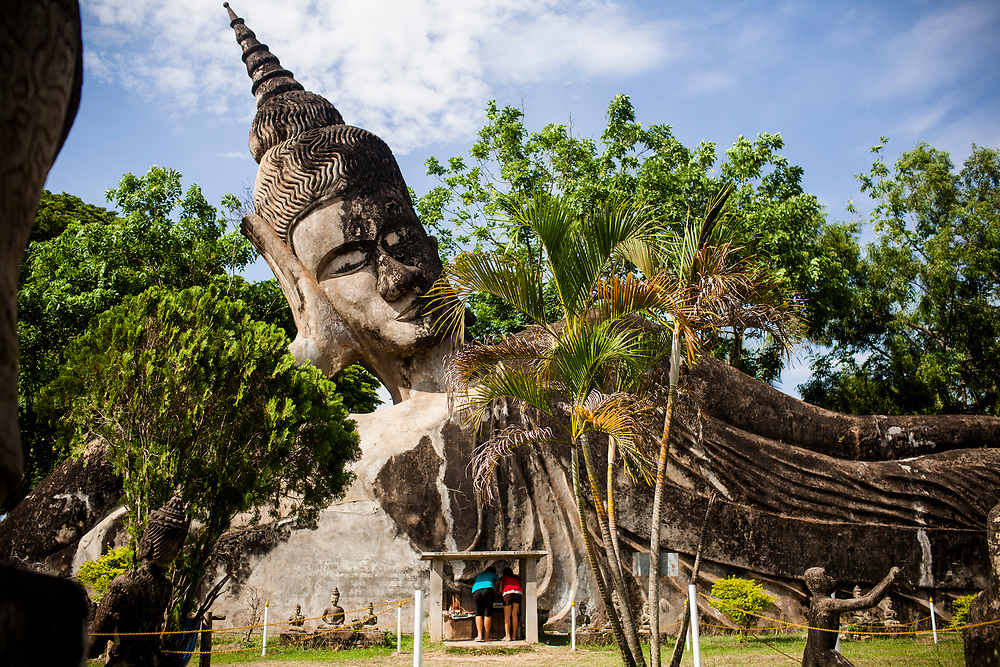 The grounds of the weird and wonderful Buddha Park on the outskirts of the Lao capital, Vientiane.