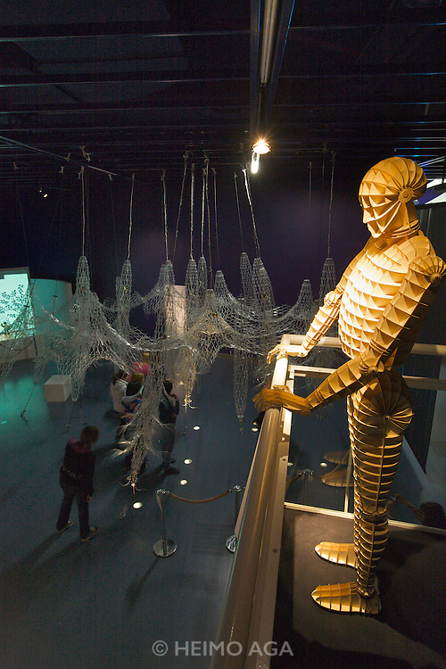 Linz, Cultural Capital of Europe 2009. Ars Electronica Center. Level -3: Main Gallery. New Views of Humankind. RoboLab.