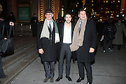 12 January 2010-New York, NY- l to r: Jacque Audiard, Tahar Rahim and Thomas Bidegain at The National Board of Review of Motion Pictures Awards Gala (Outside Arrivals) held at Cipriani 42nd Street on January 12, 2010 in New York City. Photo Credit: Terrence Jennings/Sipa