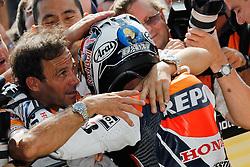 29.08.2010, Indianapolis, USA, MotoGP, Redbull Indianapolis Grand Prix, im Bild .celebration of Dani Pedrosa - Repsol Honda team .EXPA Pictures © 2010, PhotoCredit: EXPA/ InsideFoto/ Semedia +++++ ATTENTION - FOR AUSTRIA AND SLOVENIA CLIENT ONLY +++++