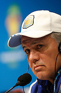 Argentina manager Alejandro Sabella during the Argentina press conferece at Maracana Stadium, Rio de Janeiro, ahead of tomorrow's World Cup Final. <br /> Picture by Andrew Tobin/Focus Images Ltd +44 7710 761829<br /> 12/07/2014