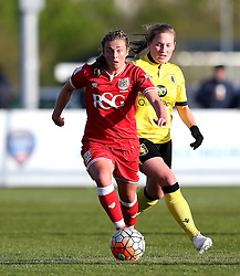 Jodie Brett of Bristol City Women runs with the ball - Mandatory by-line: Robbie Stephenson/JMP - 02/01/2012 - FOOTBALL - Stoke Gifford Stadium - Bristol, England - Bristol City Women v Aston Villa Ladies - FA Women's Super League 2