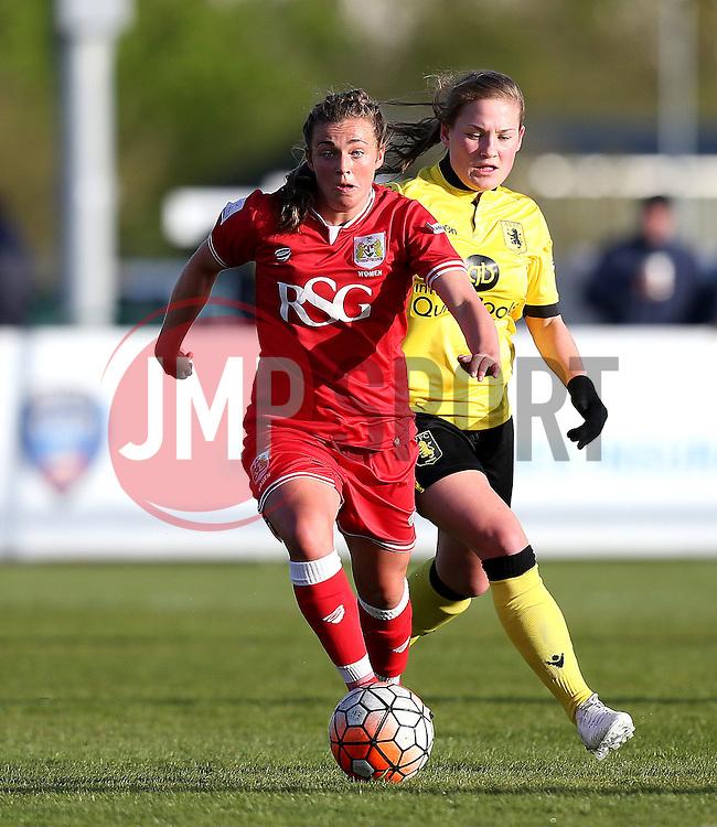 Jodie Brett of Bristol City Women runs with the ball - Mandatory by-line: Robbie Stephenson/JMP - 02/01/2012 - FOOTBALL - Stoke Gifford Stadium - Bristol, England - Bristol City Women v Aston Villa Ladies - FA Women's Super League 2