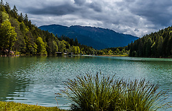 THEMENBILD - Blick vom Ufer auf den Tristachersee, aufgenommen am 20. Mai 2017 in Tristach, Österreich // View from the shore to the Tristachersee on 2017/05/20, Tristach, Austria. EXPA Pictures © 2017, PhotoCredit: EXPA/ JFK