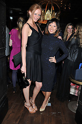 Left to right, OLIVIA INGE and BEATRIX ONG at the launch of the Johnnie Walker Blue Label Club held at The Scotch, Mason's Yard, London on 1st May 2012.