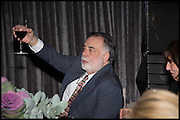 FRANCIS FORD COPPOLA ACCEPTING THE AWARD, Liberatum Cultural Honour for Francis Ford Coppola<br /> with Bulgari Hotel & Residences, London. 17 November 2014