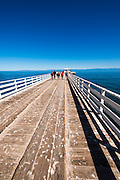 Prisoners Harbor pier, Santa Cruz Island, Channel Islands National Park, California USA
