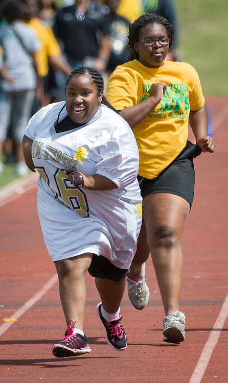 Houston ISD high schoolers participate in Special Olympics field day at Barnett Stadium, May 2, 2014.