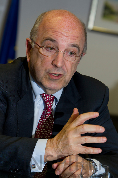 Joaquín Almunia, Vice-President and European Commissioner for Competition, during an interview in his office in Brussels Wednesday evening January 26 2011. Photo: Erik Luntang/INSPIRIT Photo