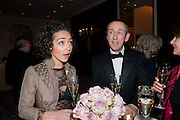 RUTH NEGGA; SIR NICHOLAS HYTNER, 56th London Evening Standard Theatre Awards. Savoy Hotel. London. 28 November 2010.  -DO NOT ARCHIVE-© Copyright Photograph by Dafydd Jones. 248 Clapham Rd. London SW9 0PZ. Tel 0207 820 0771. www.dafjones.com.