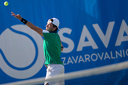 Evgeny Karlovskiy (RUS) play against Karol Drzewiecki (POL) during ATP Challenger Zavarovalnica Sava Slovenia Open 2017, on August 6, 2017 in Sports centre, Portoroz/Portorose, Slovenia. Photo by Urban Urbanc / Sportida