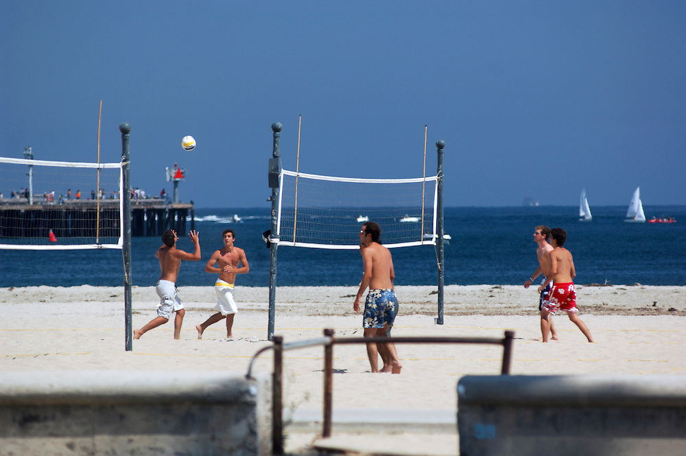 Beach Volleyball, Sandy Beach, Santa Barbara, California, United States of America