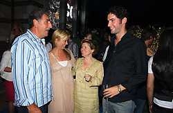 Left to right, JIM CARTER, TAMZIN OUTHWAITE, IMELDA STAUNTON and TOM ELLIS at a party to celebrate FilmFour becoming the UK's first major free film channel held at Debenham House, Addison Road, London on 20th July 2006.<br />