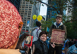 Occupy Wall Street political protest in NYC. October 2011.