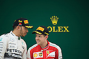 April 10-12, 2015: Chinese Grand Prix - Sebastian Vettel (GER), Ferrari, Lewis Hamilton (GBR), Mercedes