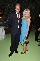 ROBERT & KATE HERSOV at a dinner hosted by Cartier in celebration of the Chelsea Flower Show held at Battersea Power Station, 188 Kirtling Street, London SW8 on 23rd May 2011.