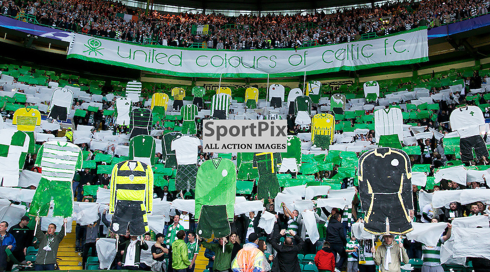 Celtic fans display before  the Glasgow Celtic FC v Malmö FF Champions League Play-Off  19th August 2015 ©Edward Linton | SportPix.org.uk