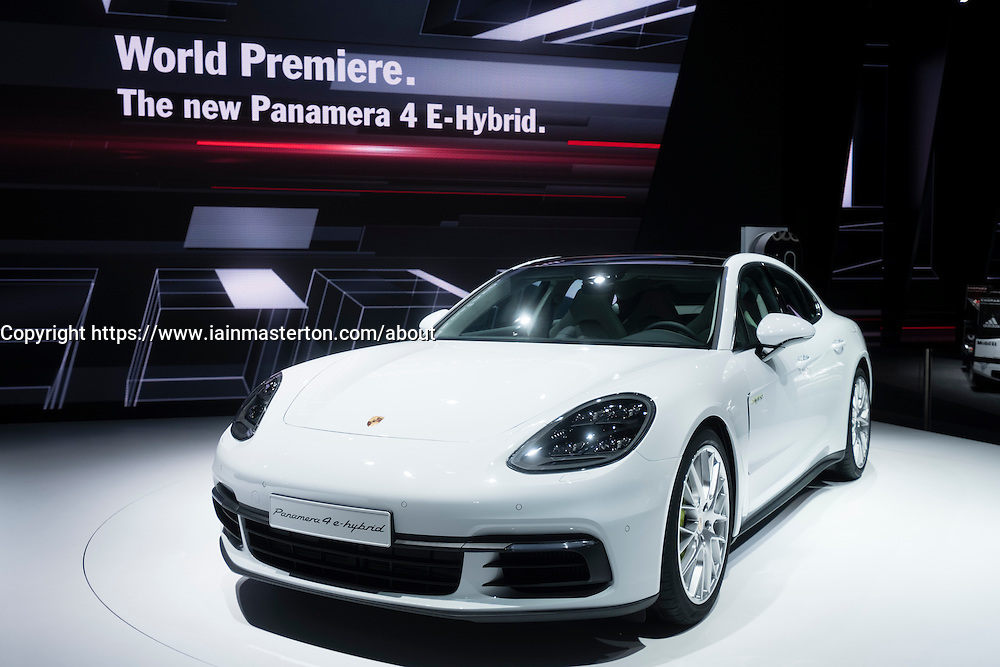 New Porsche Panamera 4 E-Hybrid, at world premiere launch at Paris Motor Show 2016