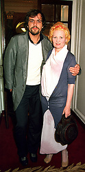Top British fashion designer VIVIENNE WESTWOOD <br /> and her husband MR ANDREAS KRONTHALER, at a <br /> party in London on 13th June 2000.OFC 30<br /> © Desmond O'Neill Features:- 020 8971 9600<br />    10 Victoria Mews, London.  SW18 3PY <br /> www.donfeatures.com   photos@donfeatures.com<br /> MINIMUM REPRODUCTION FEE AS AGREED.<br /> PHOTOGRAPH BY DOMINIC O'NEILL