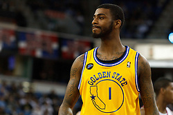 March 14, 2011; Sacramento, CA, USA;  Golden State Warriors small forward Dorell Wright (1) before a free throw against the Sacramento Kings during the second quarter at the Power Balance Pavilion. Sacramento defeated Golden State 129-119.
