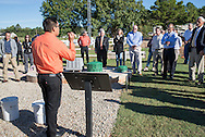 Oklahoma Onsite Wastewater Treatment Training Facility ribbon cutting event.