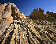 AA02001-01...NEVADA - Weathered sandstone at the White Domes area of Valley of Fire State Park.