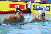 James Guy (Great Britain) and Danas Rapsys (Littuanie) In the 2nd half Final of the 200 m Freestyle during the Swimming European Championships Glasgow 2018, at Tollcross International Swimming Centre, in Glasgow, Great Britain, Day 5, on August 6, 2018 - Photo Laurent Lairys / ProSportsImages / DPPI