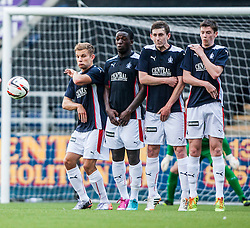 Falkirk's wall. Falkirk  2 v 2 Rotherham Utd, pre-seaon friendly.<br /> &copy; Michael Schofield.