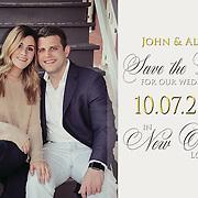 John & Alyssa Save the Date Samples
