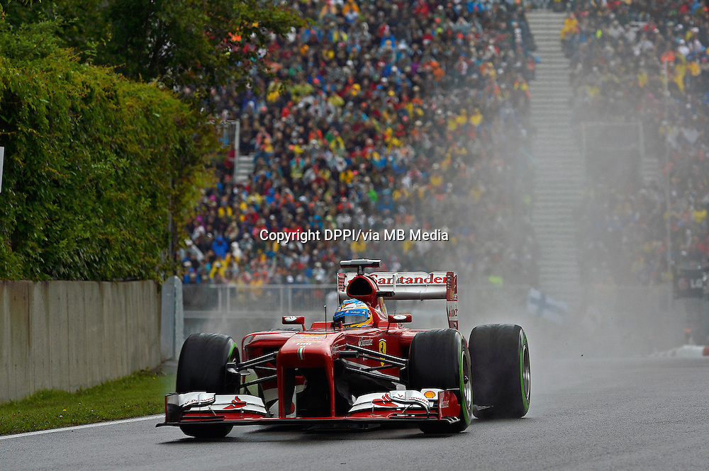 MOTORSPORT - F1 2013 - GRAND PRIX OF CANADA - MONTREAL (CAN) - 07 TO 09/06/2013 - PHOTO ERIC VARGIOLU / DPPI ALONSO FERNANDO (SPA) - FERRARI F138 - ACTION