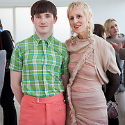 13.05.2016.           <br /> Anne Melinn and Richard Malone, Designer pictured at the much anticipated Limerick School of Art & Design, LIT, (LSAD) Graduate Fashion Show on Thursday 12th May 2016. The show took place at the LSAD Gallery where 27 graduates from the largest fashion degree programme in Ireland showcased their creations. Ranked among the world's top 50 fashion colleges, Limerick School of Art and Design is continuing to mould future Irish designers.. Picture: Alan Place/Fusionshooters
