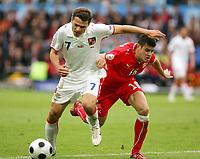 Fotball , 7. juni 2007 , EM Sveits - Tsjekkia<br /> v.l. Libor Sionko, Tranquillo Barnetta Schweiz<br /> EURO 2008 Vorrunde Schweiz - Tschechien<br /> Norway only