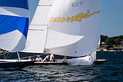 Belle sailing in the Newport Classic Yacht Regatta, day two.