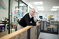 21 MAY 2012, BERLIN/GERMANY:<br /> Christophe F. Maire, Gruender / CEO txtr, Inhaber atlantic ventures, Investor und  Business Angel, nach einem Interview, txtr GmbH, Rosenthaler Str., Berlin-Mitte<br /> IMAGE: 20120521-02-052<br /> KEYWORDS: Christophe Maire