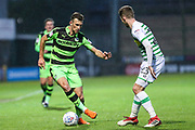 Forest Green Rovers Christian Doidge(9) on the ball during the EFL Sky Bet League 2 match between Yeovil Town and Forest Green Rovers at Huish Park, Yeovil, England on 24 April 2018. Picture by Shane Healey.