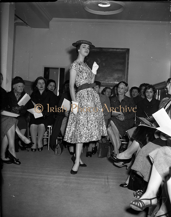 12/03/1956<br /> 03/12/1956<br /> 12 March 1956 <br /> Dior Spring Collection fashion show at Brown Thomas, Dublin.