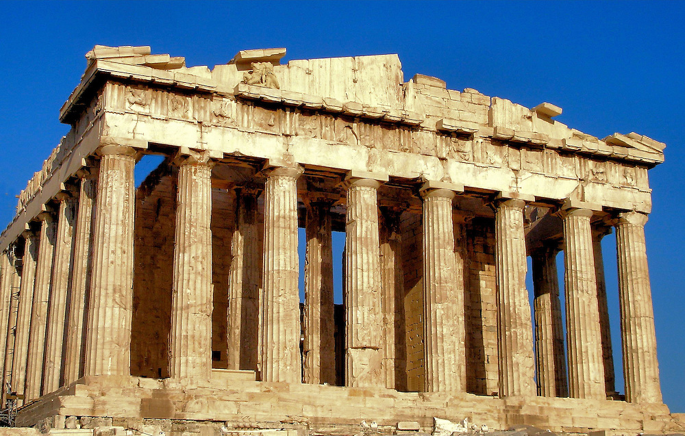 The Parthenon Temple on the Athenian Acropolis in Athens, Greece<br />