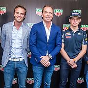 NLD/Amsterdam/20160830 - Nieuw TAG Hauer horloge, .........., Giedo van der Garde, Robert Doornbos, Max Verstappen en Jan Lammers