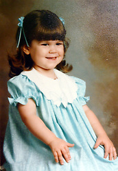21 May 2015. Laurel, Mississippi.<br /> Collect photos of plus size model Tess Holliday (formerly known as Tess Munster, née Ryann Hoven) in her formative years from a family album. Tass as a young girl.<br /> Photo credit; Tadlock via Varleypix.com