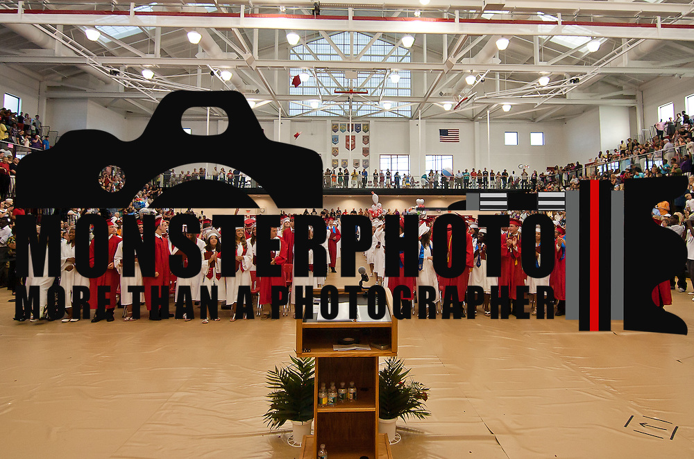 06/02/12 Smyrna Del: 336 Smyrna seniors standing during commencement exercise Saturday, June 2 2012, at Smyrna High School in Smyrna Delaware...Special to The News Journal/SAQUAN STIMPSON