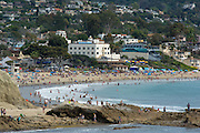 Summer Day at Main Beach in Downtown Laguna Beach California