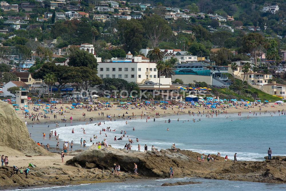 Summer Day at Main Beach in Downtown Laguna Beach California