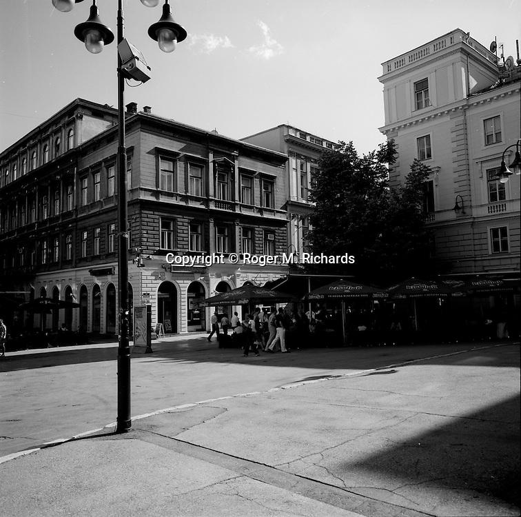 Near the Cathedral, downtown Sarajevo, 2008.