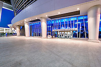 MIAMI, FL - APRIL 9: View of the team store at the new Marlins Park, construction of the stadium  was completed in March 2012, just in time for Major League Baseball Season, it features a retractable roof and seats 37,442. Taken April 9 2012.