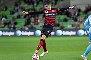 MELBOURNE, AUSTRALIA - SEPTEMBER 18: Dylan McGowan (4) of the Wanderers controls the ball during the FFA Cup Quarter Finals match between Melbourne City FC and Western Sydney Wanderers FC at AAMI Park on September 18, 2019 in Melbourne, Australia. (Photo by Speed Media/Icon Sportswire)
