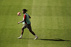 MADRID, SPAIN - Friday, May 31, 2019: Liverpool's Divock Origi during a training session ahead of the UEFA Champions League Final match between Tottenham Hotspur FC and Liverpool FC at the Estadio Metropolitano. (Pic by Handout/UEFA)